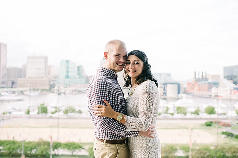Maryland Wedding Photographer Couple in City